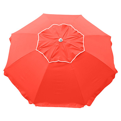 BEACHCOMBER 210CM BEACH UMBRELLA - FLURO ORANGE