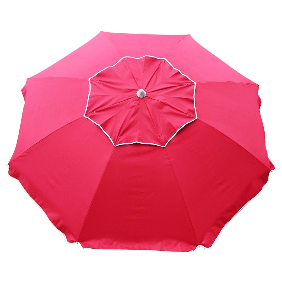Image of: Beach Umbrella For Beachcomber Red Beach Umbrella Beachkit