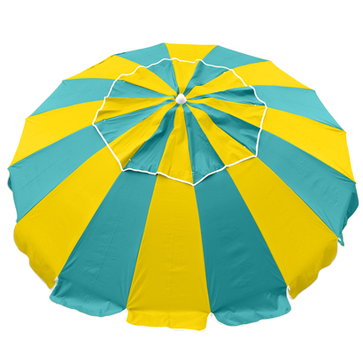 New Beachkit Australia Carnivale 240cm Umbrella Blue-Yellow Round Beach UV Shade
