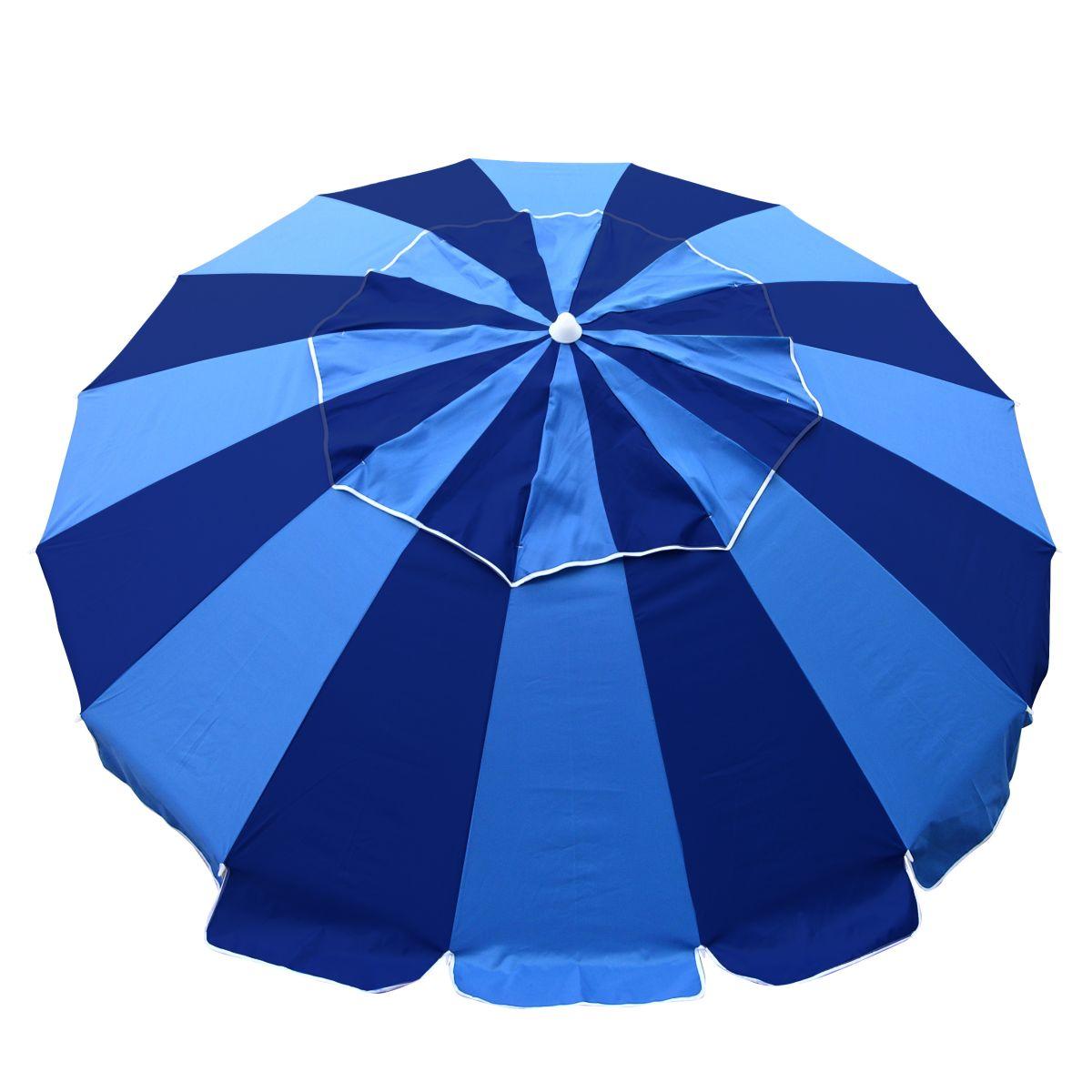 Carnivale Beach Umbrella Huge 8ft Canopy Navy Blue Royal Blue