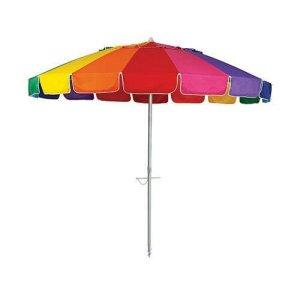 carnivale beach umbrella huge 8ft canopy rainbow panels beachkit. Black Bedroom Furniture Sets. Home Design Ideas