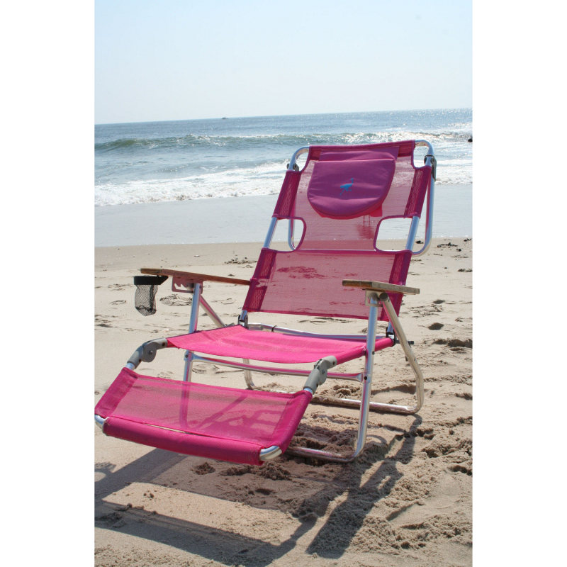 ostrich 3 in 1 chaise lounger pink beach lounger