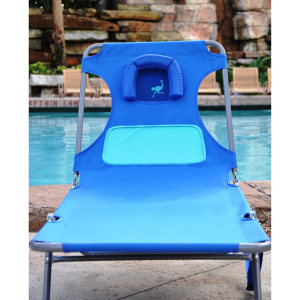 OSTRICH LADIES CHAISE LOUNGER - BLUE