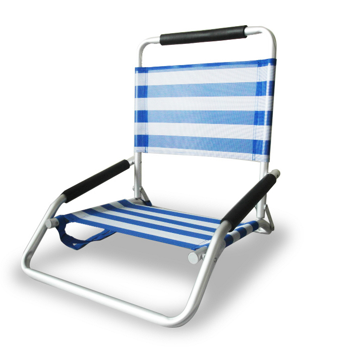 Ostrich Low Sand Beach Chair Blue stripe Beach Chair BeachKit