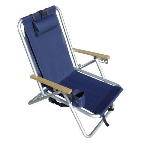 Wearever Backpak Chair Navy Blue BeachKit
