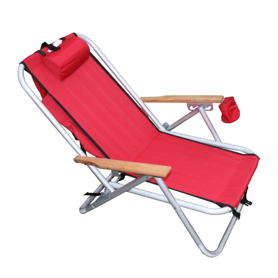 Wearever Backpak Chair Red Beachkit