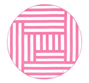 Dock and Bay XL Round Microfibre Beach Towel - PHI PHI PINK