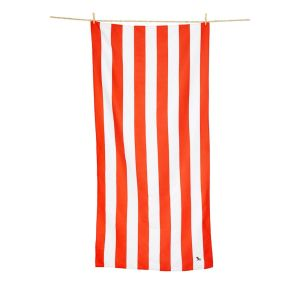 Dock and Bay XL Microfibre Beach Towel - RED