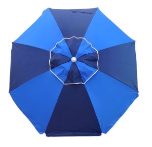 FIESTA 185CM BEACH UMBRELLA - NAVY/ROYAL