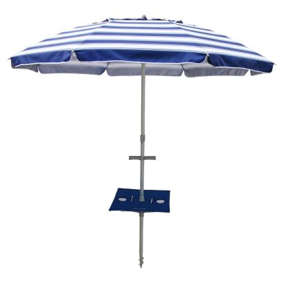 DAYTRIPPER 210cm UMBRELLA with SUNRAKER TABLE - NAVY / WHITE