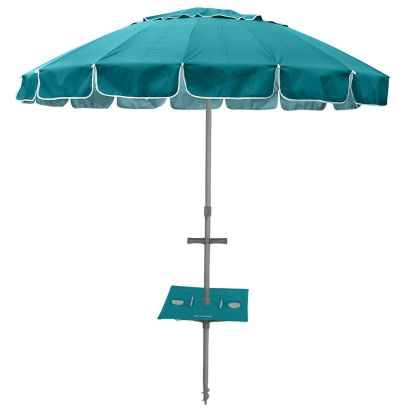 MAXIBRELLA 240cm UMBRELLA with SUNRAKER TABLE - TURQUOISE