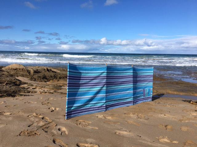 Blue Striped Beach Windbreaker Beachkit