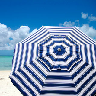 Sturdy Beach Umbrellas, Sand Umbrella, Sunbrella, Vinyl, Canvas